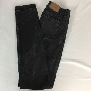 Madewell Alley straight Black Stretch Jeans